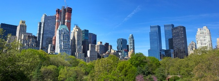 Central Park with Manhattan skyline in New York City  photo