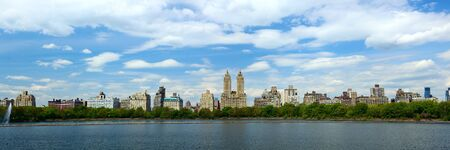 central park: Central Park with Manhattan skyline in New York City  Stock Photo