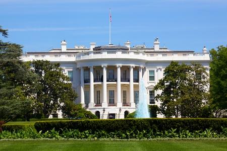 house facades: The White House in Washington DC, USA