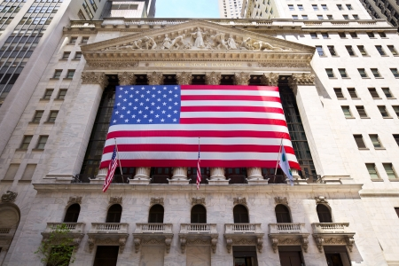 New York, New York, USA - July 4, 2012: The historic New York Stock Exchange, one of the largest stock exchanges in the world