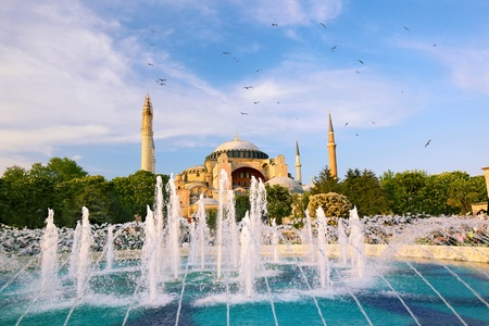 aya: Haghia Sophia  Aya Sofya  and fountain, Istanbul, Turkey