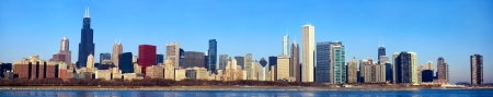 il: Downtown Chicago panorama, IL, USA