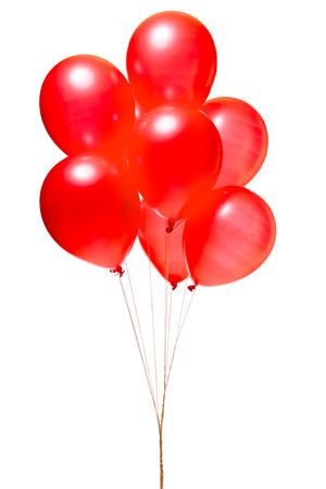 Balloon: Đỏ bong bóng được cô lập trên màu trắng
