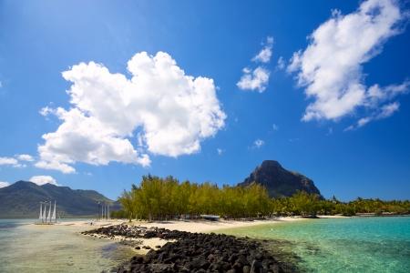 mauritius: Tropical lagoon on south coast of Mauritius Island Stock Photo