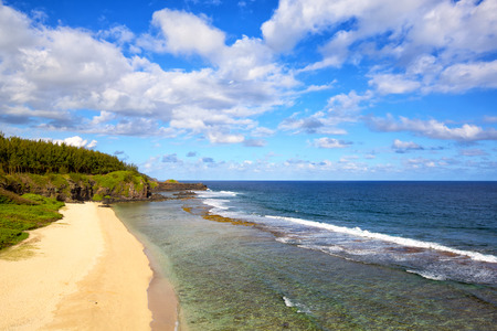 southernmost: Gris Gris the southernmost point of Mauritius Island  Stock Photo