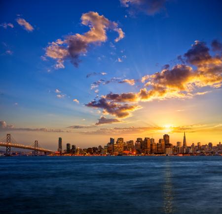 San Francisco skyline at sunset, California, USA photo