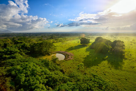 Aerial view of smooth terrain in Dominican Republic photo