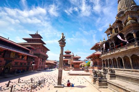 ラリトプル市、カトマンズ、ネパール、パタンのダルバール スコアー