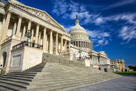 États-Unis Capitole de façade Est, Washington DC, USA Banque d'images