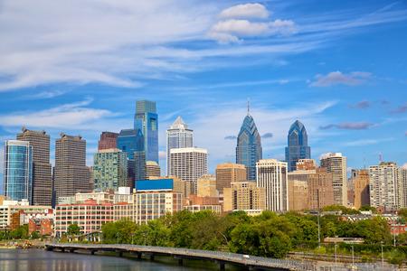 Skyline van het centrum van Philadelphia, Pennsylvania, Verenigde Staten Stockfoto