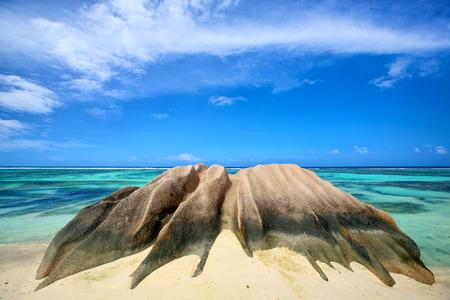 anse source d argent: Granite rock at Anse Source d Argent beach, La Digue, Seyshelles