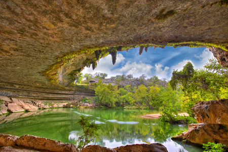 sink hole: Hamilton Pool sink hole, Texas, USA