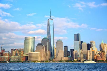 One World Trade Center en Lower Manhattan wolkenkrabbers, New York Stockfoto