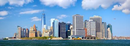 Lower Manhattan urban skyscrapers panorama, New York City photo