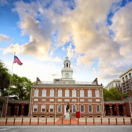 필라델피아 독립 기념관, 미국 펜실베니아 스톡 콘텐츠