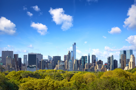city  buildings: Manhattan skyline with Central Park in New York City