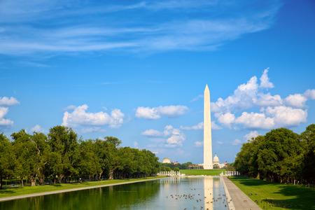 워싱턴 DC의 내셔널 몰에 워싱턴 기념비 스톡 콘텐츠