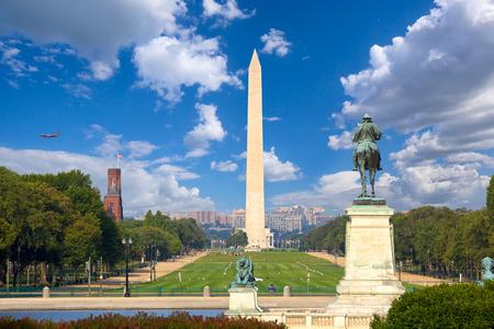 Washington Monument  and National Mall, Washington DC Archivio Fotografico