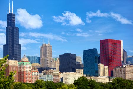 il: Chicago downtown urban skyscrapers, IL, USA