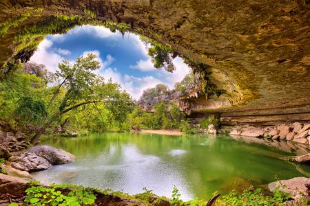 Hamilton Pool sink hole, Texas, United States Standard-Bild