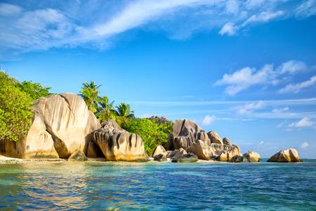 d'argent: Anse Source dArgent beach, La Digue, Seyshelles Islands