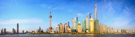 Horizonte de Shanghai panorama de China Foto de archivo