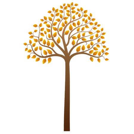 autumn tree: Abstract autumn tree on white background, vector illustration