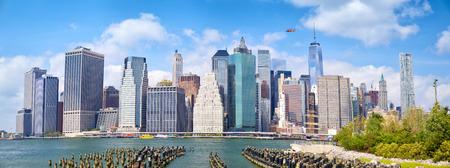 lower manhattan: Lower Manhattan skyscrapers, panoramic view, New York