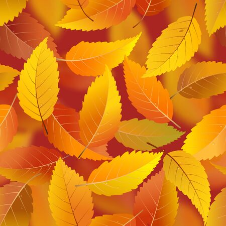 falling leaves: Seamless pattern with autumn falling leaves, vector illustration