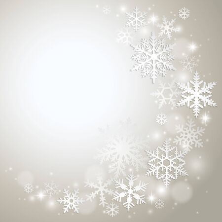 winter background: Abstract winter background with snowflakes
