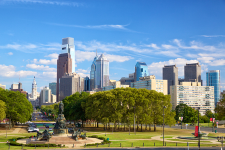 art museum: Philadelphia downtown skyline, Pennsylvania, United States