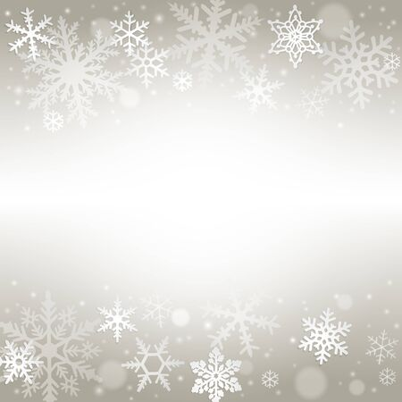 silver backgrounds: Abstract christmas background with snowflakes Illustration