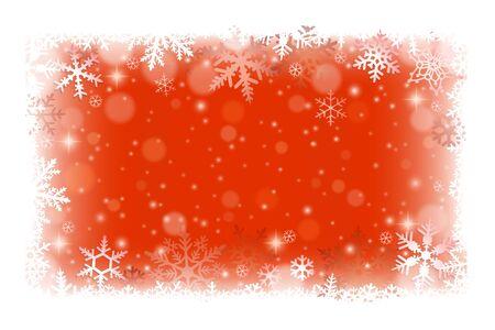 copo de nieve: Fondo del marco de la Navidad con los copos de nieve