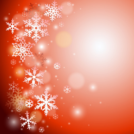 red snowflake background: Christmas vector background with snowflakes