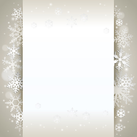 Winter holiday background card with snowflakes