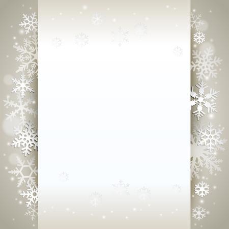 Winter vakantie achtergrond kaart met sneeuwvlokken