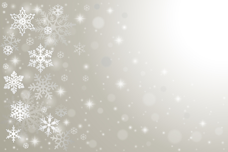 winter snow: Abstract winter background with falling snowflakes and snow Illustration