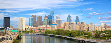 Philadelphia downtown skyline panorama, United States
