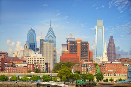 Philadelphia downtown cityscape, United States