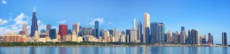 Chicago skyline panorama with Lake Michigan, IL, United States