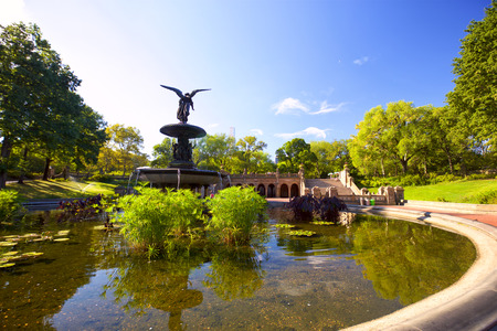 bethesda: Angels of the Water Fountain at Bethesda Terrace in Central Park, New York Stock Photo