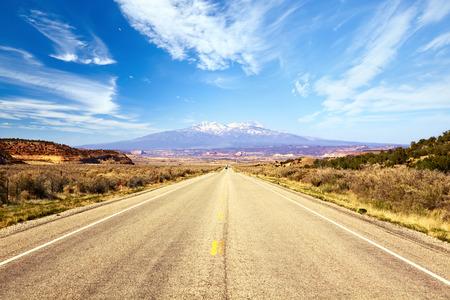 Road through American Southwest, Utah, United States