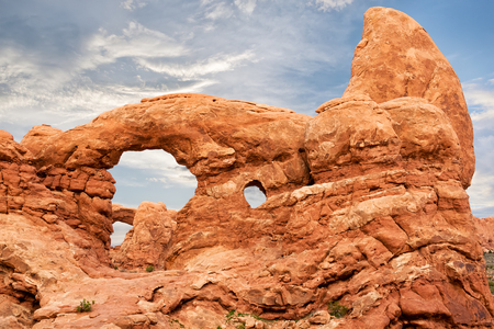 moab: Turner Arch at Windows Section in Arches National Park, United States Stock Photo