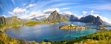 Reine fishing village and surroundings, Lofoten Islands, Norway