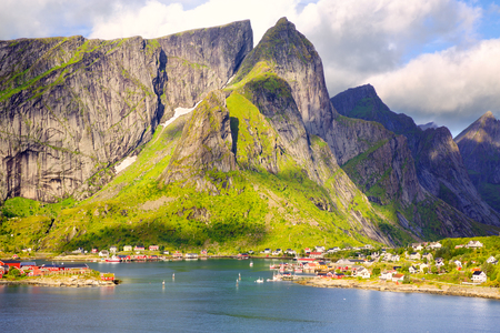 Fishing village of Reine in Lofoten Islands, Norway
