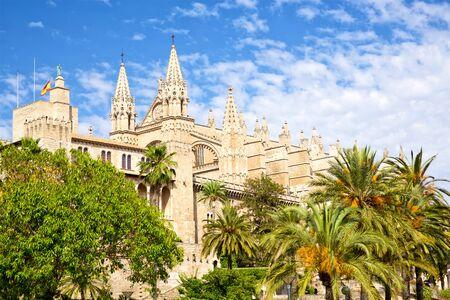 Cathedral Basílica de Santa Maria de Mallorca, Spain Stok Fotoğraf