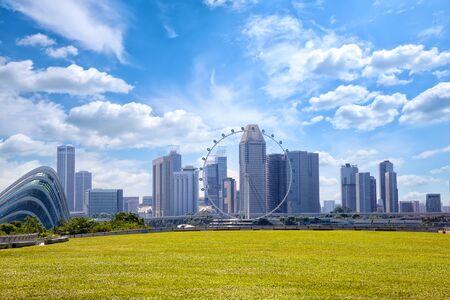 Singapore city skyline from Marina Barrage