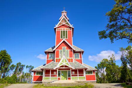 Buksnes Church in Gravdal, Lofoten Islands, Norway
