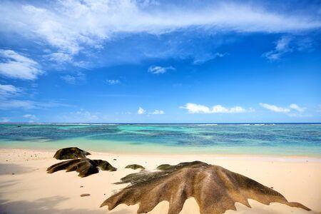 Anse Source d'Argent beach with granite rocks, La Digue Island, Seyshelles
