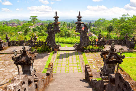 The gate of the highest temple at Besakih complex, Pura Gelap in Bali, Indonesia